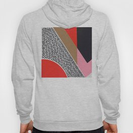 Pink Gold Red Abstract Hoody