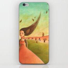 Autumn Lady iPhone Skin