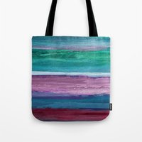the strokes Tote Bags featuring Different Strokes by Steven Womack