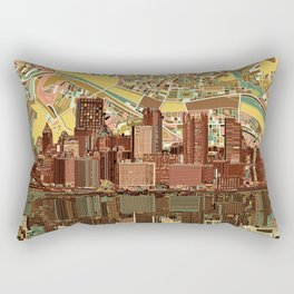 pittsburgh city skyline Rectangular Pillow