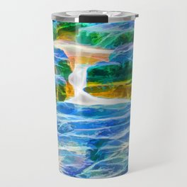 Abstract rock pool in the rough rocks in Queensland Travel Mug