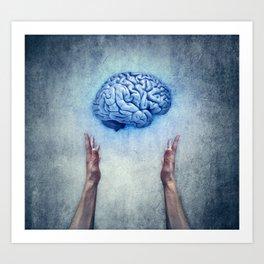 holding brain Art Print