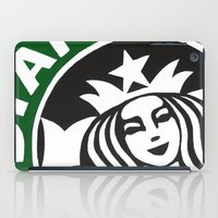 starbucks iPad Cases featuring Starbucks Abstract by Tiffany Taimoorazy