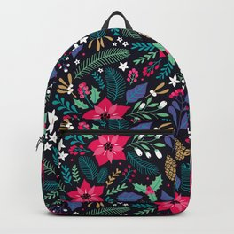 Seamless Floral Pattern Backpack