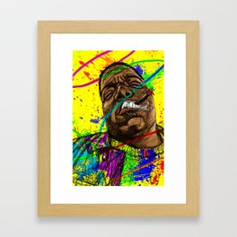 Gun smoke Framed Art Print