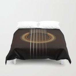 Full Guitar Black Duvet Cover