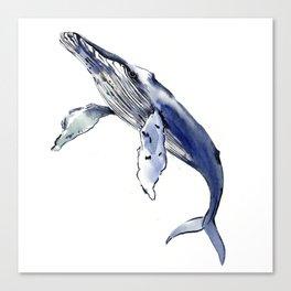 Humpback Whale, whale sea world desocr whale home decor florida beach Canvas Print