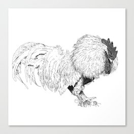angry cock Canvas Print