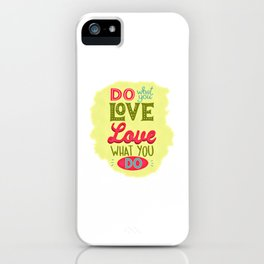 Love Quote Design, Colorful Hearts, Rainbows and Flowers (25) iPhone Case