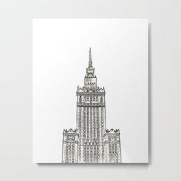 Architecture: Pałac Kultury i Nauki Metal Print