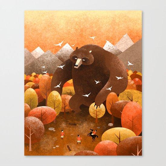Giant bear Canvas Print
