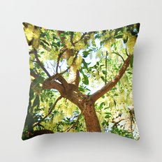 Shining Tree Throw Pillow