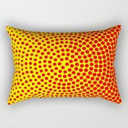 Simple circle halftone background Rectangular Pillow