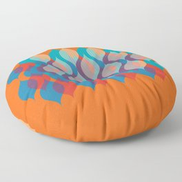Ogee orgy orange Floor Pillow