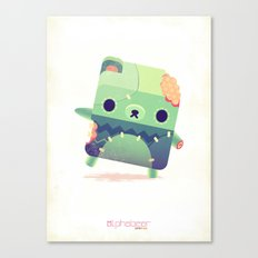 Zombie Bear Canvas Print