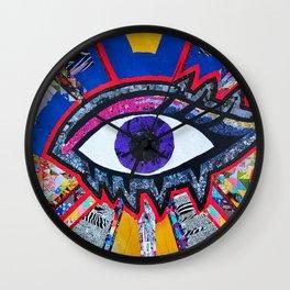 Eye collage Wall Clock