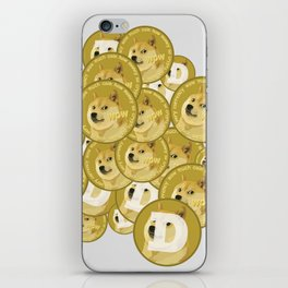 Such coins, so much dogecoins iPhone Skin
