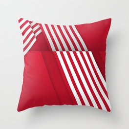 Optical illusion_red Throw Pillow