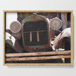 Truck Grill, Old Truck Grill, Vintage, Antique Truck Serving Tray