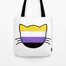 Non-Binary Flag Cat  Tote Bag