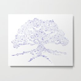 Tree of Virtues Metal Print