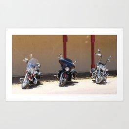 Motorcycle Parade Art Print
