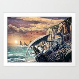 The Leggend of the Silver Dragon Art Print