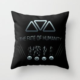 The Fate of Humanity Throw Pillow
