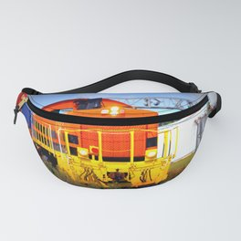 Colorful Freight Train Fanny Pack