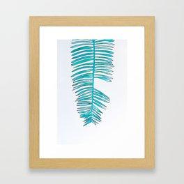 Piezas de Color Turquesa Framed Art Print