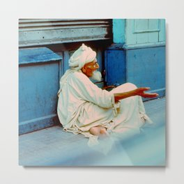 Elder Man in Marrakesh, Morocco Metal Print