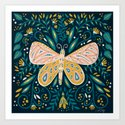 Butterfly Symmetry - Teal Palette by catcoq
