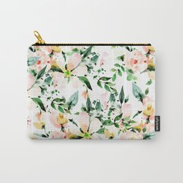 Flowered Carry-All Pouch