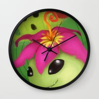 digimon Wall Clocks featuring Palmon by Artchemi
