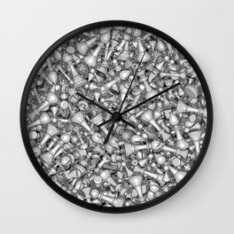 Blitz Chess B&W Wall Clock