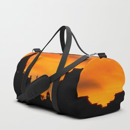 London Sunset in sillouette bywhacky Duffle Bag