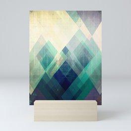 Mountains print, Abstract print, geometric wall art, abstract mountain, minimalist art, modern art, Mini Art Print
