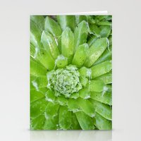 succulent Stationery Cards featuring Succulent by constarlation