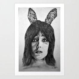 Chasing Rabbits Art Print