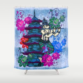 Krishna Rising Shower Curtain