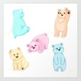 Color me bear-y sweet Art Print