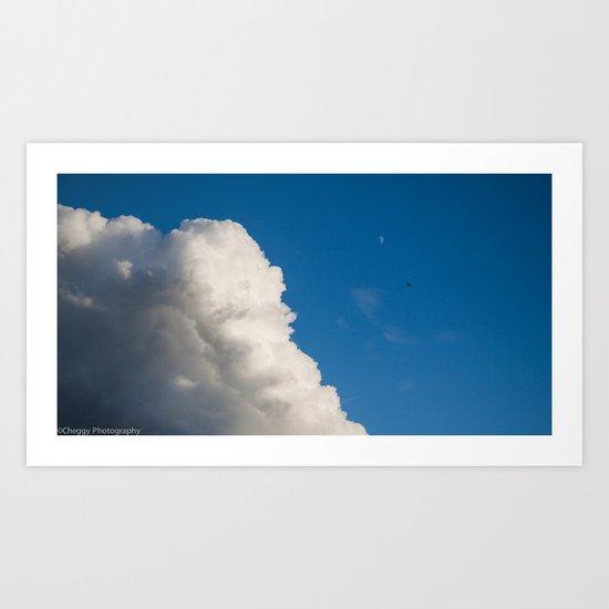 white cloud Art Print