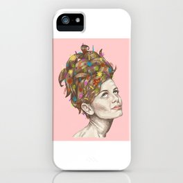 Hair Garden // twiggy with the cool hair iPhone Case