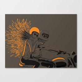 orange peel Canvas Print