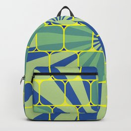 Abstract geometric blue Backpack