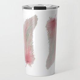 Soft Pink Feather Kisses Travel Mug