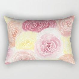 Pile of Warm Roses Rectangular Pillow