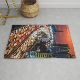 High Speed Fast Cars Rug