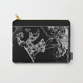 0. The Fool- White Line Tarot Carry-All Pouch