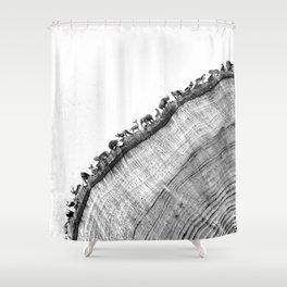 Tree Ring Print Shower Curtain